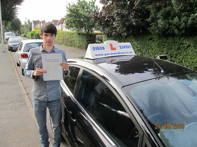 Today, on my first attempt I passed my driving test, picking up 4 minors